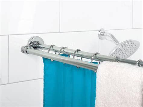 how to install a shower curtain rod installing a double shower curtain rod curtain
