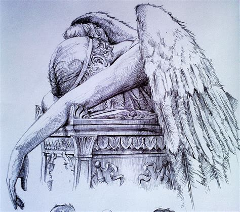 this is a tattoo called angel of grief this has my dad s angel of grief on pinterest grief weeping angels and angel