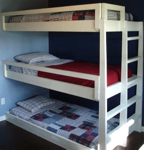 Three Bunk Bed Design Bed Ideas On Pinterest Bunk Beds Loft Beds And Bunk Bed
