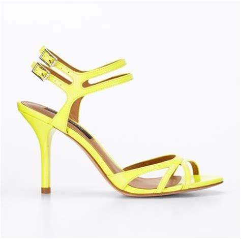 yellow strappy sandals patent strappy sandals in yellow neon