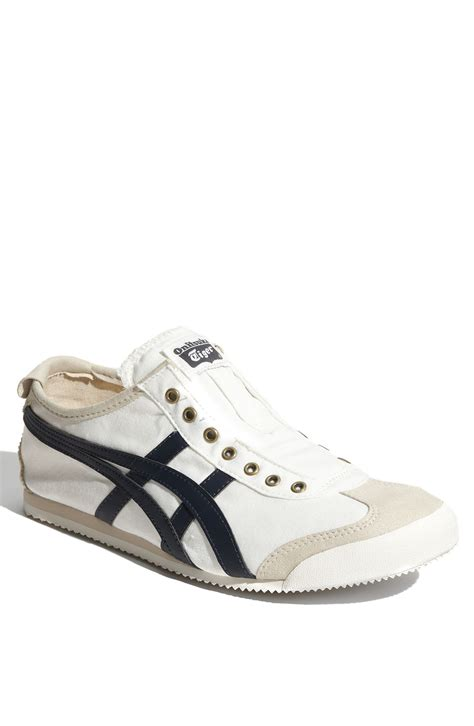 Onitsuka Tiger Mexico 66 Deluxe Navy List White onitsuka tiger mexico 66 slip on in white for birch navy lyst