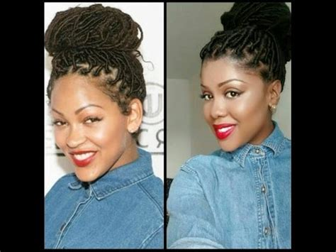 what kinda hair do i use for faux locks how to do meagan good makeup tutorial youtube