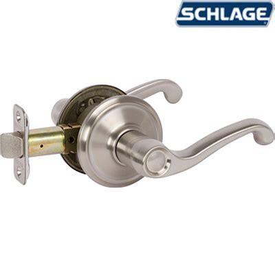 Shop Schlage Century Traditional Satin Nickel Single Lock Keyed Entry Door Handleset At Lowes Flair Satin Nickel By Schlage Unhinge