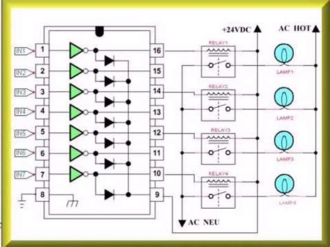 transistor uln2003an datasheet using the uln2003a transistor array with arduino