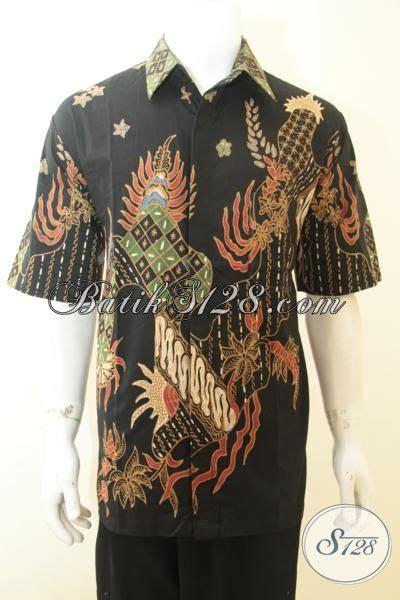 Hem Batik Katun Terbaru Burung Hitam Kemeja Jumbo Big B60717007 batik pria hitam lengan pendek baju batik tulis ukuran jumbo motif keren pas buat gaul dan