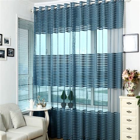 crossover voile curtains cross stripe sheer curtain panel decorative window voile