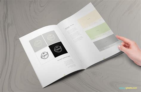 The Prestige Brand Manual Template Zippypixels Author Illustrator Contract Template