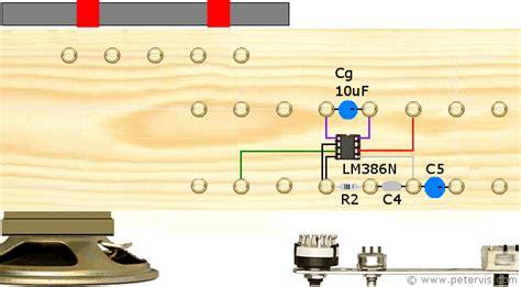 output capacitor audio lm386 circuit build