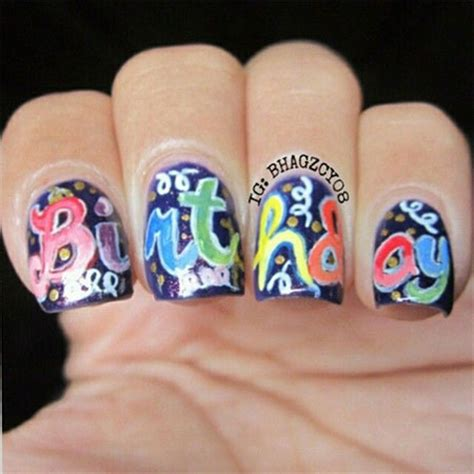 17 best images about nails birthday on birthday nail birthdays and coral cupcakes happy birthday nail designs ideas 2014 fabulous nail designs
