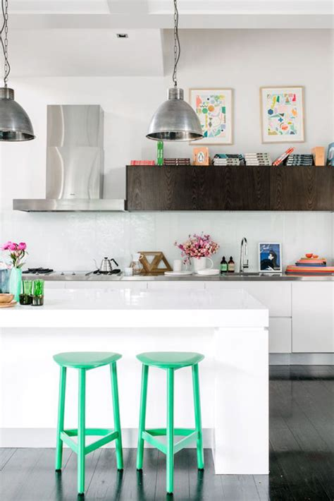Pops Kitchen by White Kitchen With Pops Of Color Culture Scribe