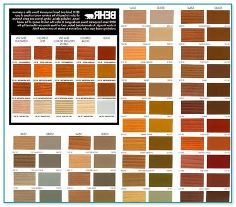 home depot deck stain color chart