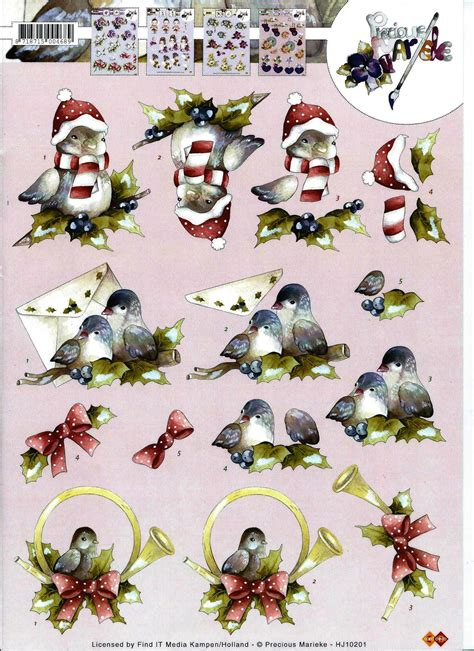 3d Decoupage Prints - marieke 3d sheets 3d sheets clip and