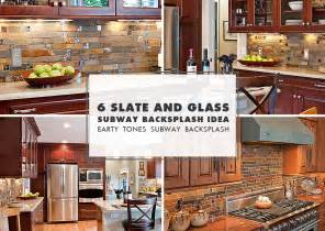 Slate Backsplash Tiles For Kitchen slate mosaic brown rusty kitchen backsplash tile from backsplash com