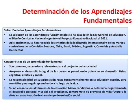 marco curricular y aprendizajes fundamentales jose encinas presentaci 243 n sistema curricular general