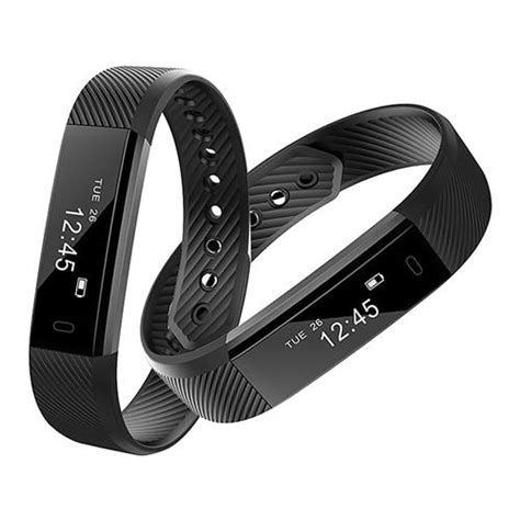 ID115 Smart Bracelet Fitness Tracker Black