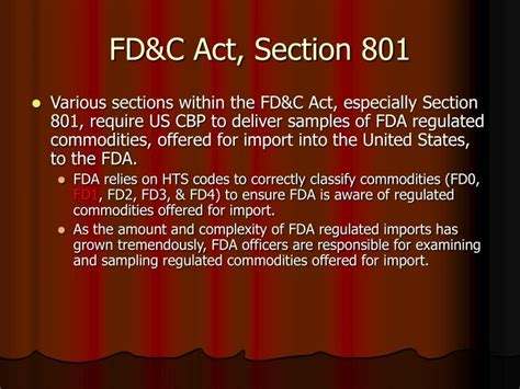 act sections ppt us fda powerpoint presentation id 1276026