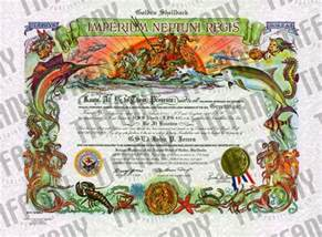 crossing the line certificate template golden shellback certificate publishing