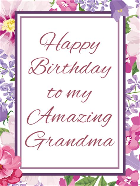 printable birthday cards for grandma to my amazing grandma happy birthday card birthday
