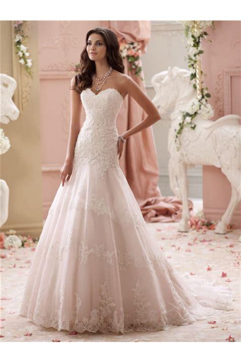 trumpet strapless sweetheart blush wedding dress