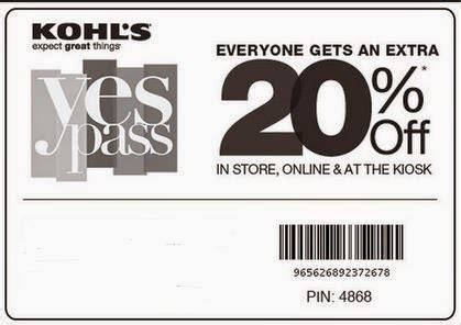 Kohls In Store Coupons Printable 2015