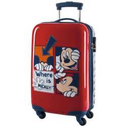 disney valise trolley cabine mickey mouse et bleu