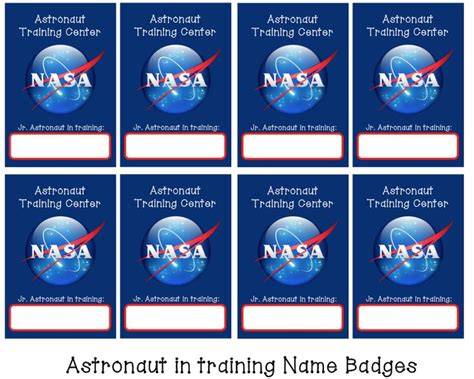 17 Best Space Program Images On Pinterest Astronauts Astronaut And Astronomy Nasa Name Tag Template