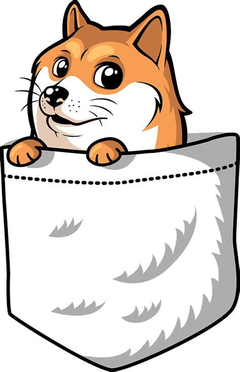Cyber Monday Home Decor quot doge pocket pocket doge t shirt quot stickers by tabner