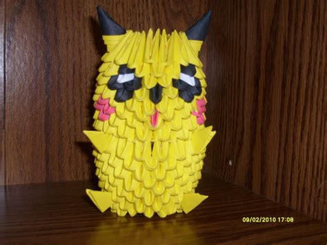 Pikachu Origami 3d - pikachu 3d origami by xexy1515 on deviantart