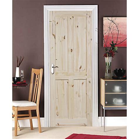 Homebase Interior Doors 4 Panel Knotty Pine Door 762mm Wide