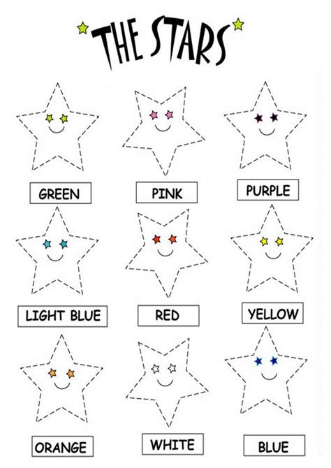 printable worksheets coloring color the stars worksheets download free printable and