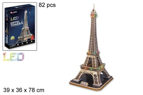 eiffel tower puzzle with lights 3d puzzle eiffel tower and led light