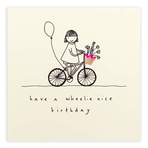 Bicycle Birthday Card Template by Birthday Wheelie Ruth Jackson