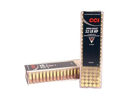 cci mini mag 22 lr copper plated hollow point cci 22lr mini mag high velocity 40gr rn 5000 case