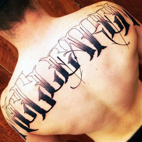 last name on back tattoo designs last name designs pictures to pin on