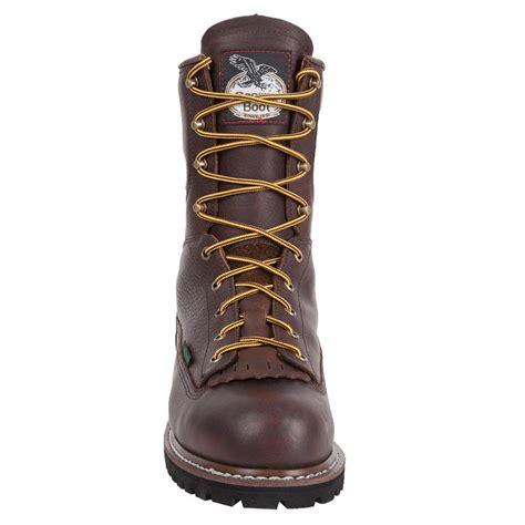 g103 steel toe waterproof low heel logger work boot