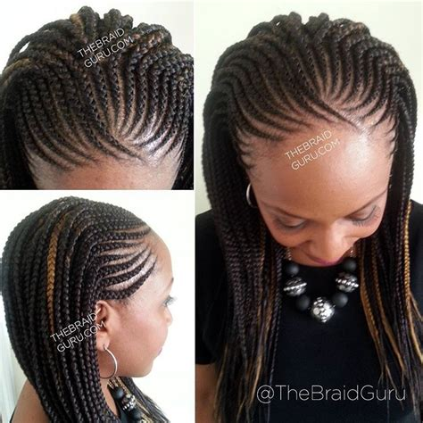 french braids in frnt and boxed braids in back see this instagram photo by thebraidguru 85 likes
