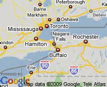 map of niagara falls canada hotels accommodation