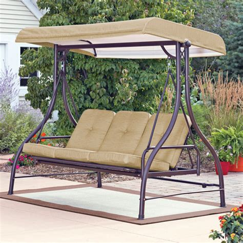 outdoor 3 person swing mainstays lawson ridge converting outdoor swing hammock