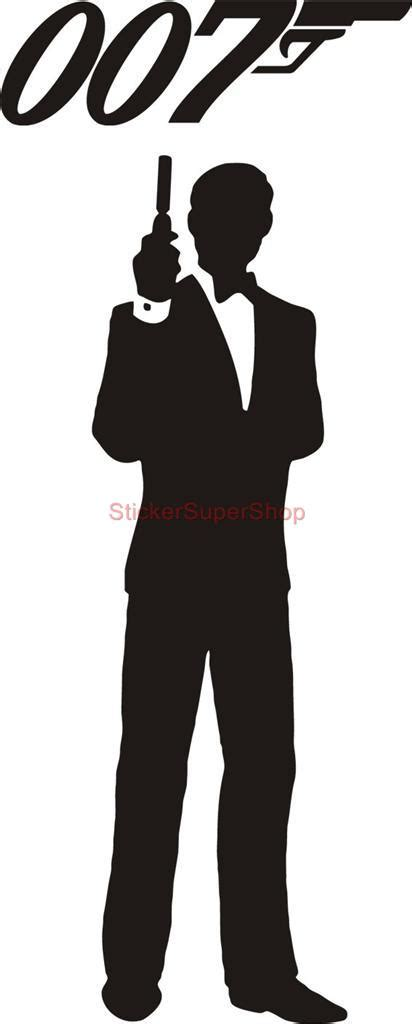 james bond silhouette james bond 007 silhouette decal removable door wall