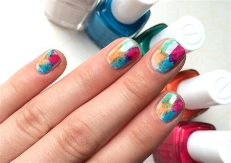 watercolor manicure tutorial easy summer watercolor mani tutorial step by step nail art