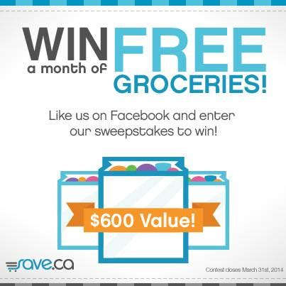 Free Groceries Sweepstakes - save ca win a month of free groceries sweepstakes