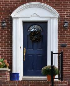 Brick House Front Door Ideas Front Doors Colors Blue Doors White Trim Traditional Exterior Curb Appeal Colors
