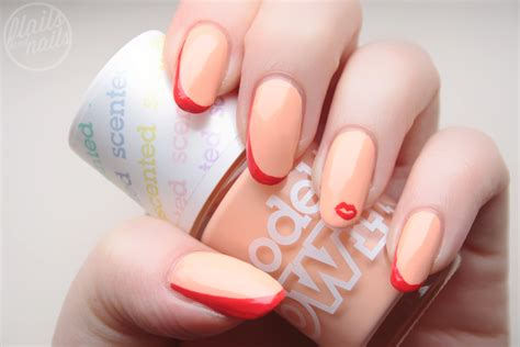 my fruits model peach dita von teese inspired nail art with models own peach