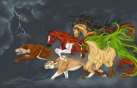 imagenes de leones fantasia fondos de pantalla caballo perro le 243 n unicornios rayo