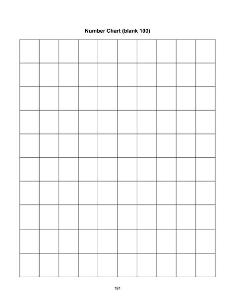free printable blank hundreds chart to 120 6 best images of printable blank chart 1 120 blank 120