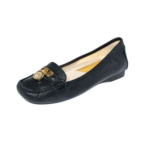michael kors hamilton loafers michael kors hamilton loafer flats in black lyst