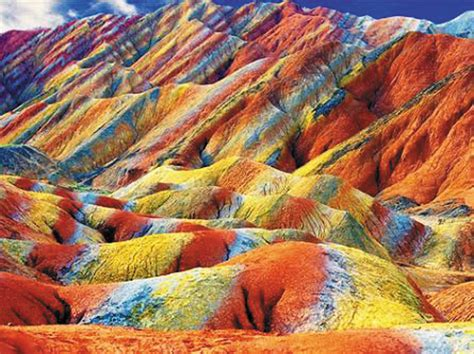 colorful mountains painted rocks of china islamic voice