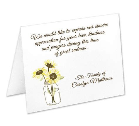 funeral acknowledgement cards template sympathy acknowledgement cards funeral thank you cards