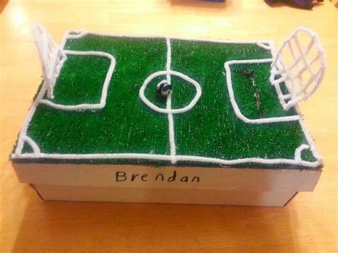 soccer valentines box valentines soccer field box crafts