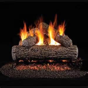 Gas Logs 18 Peterson Real Fyre Vented Golden Oak Gas Logs